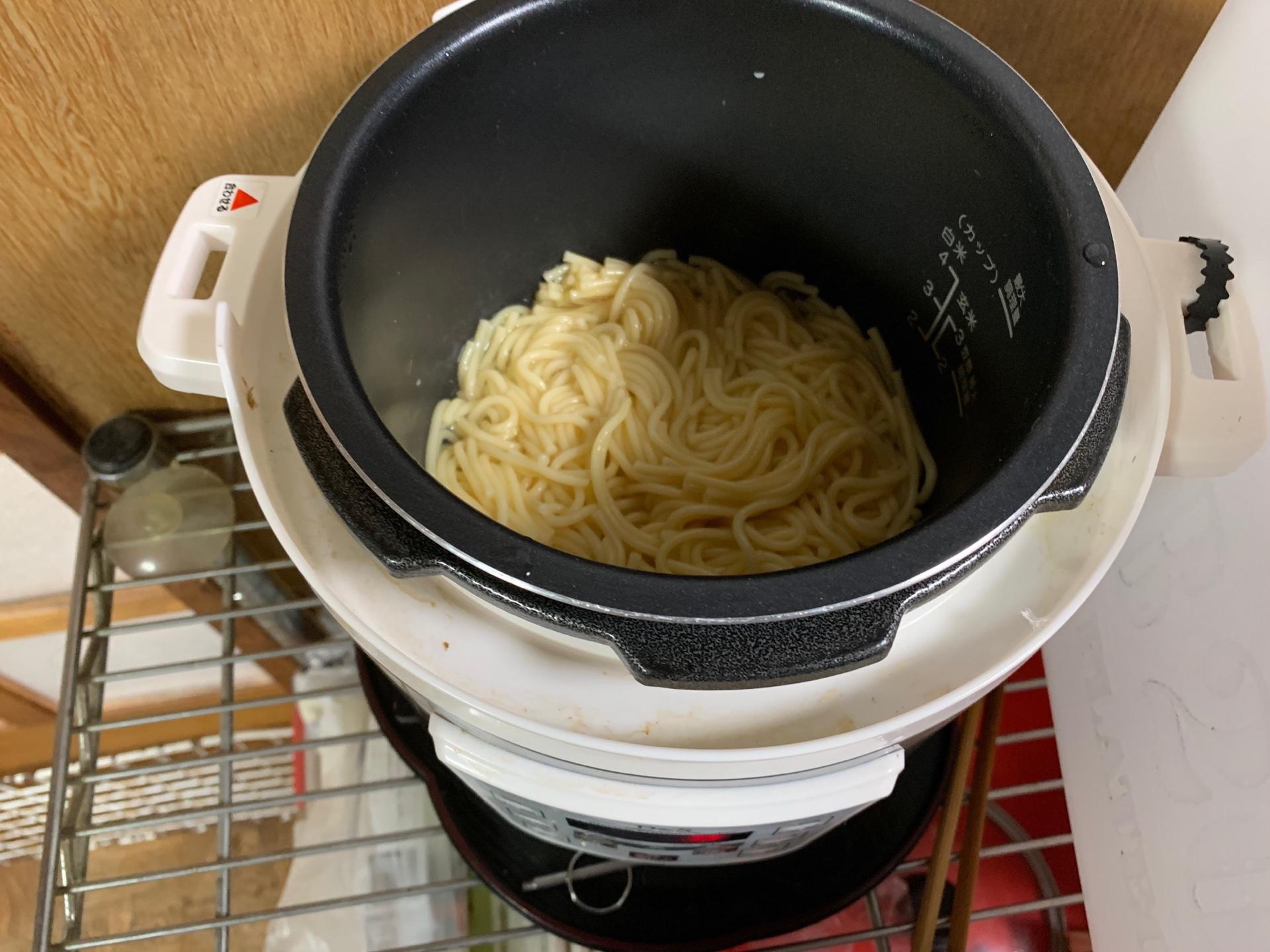 電気圧力鍋で麵を茹でれるのか?